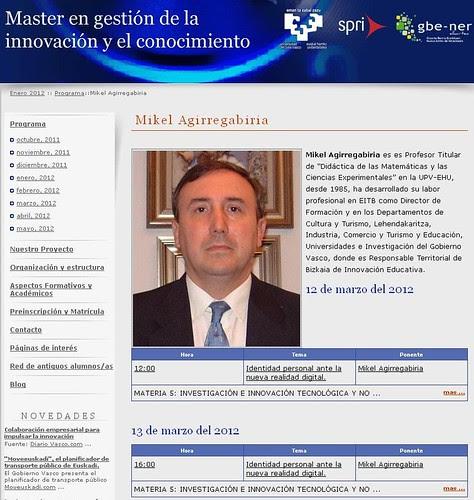 Máster en Gestión de la Innovación y el Conocimiento 2012