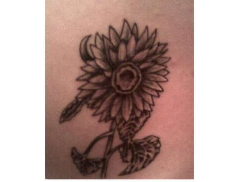 Black And White Sunflower Tattoo Designs Tattoos Book 65000