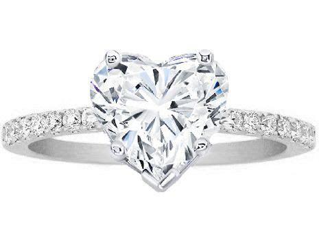 Engagement Ring   Heart Shape Diamond Petite Engagement