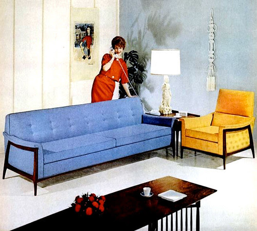 1960s Decor: Mid-Century Living: Living Rooms (1960-65
