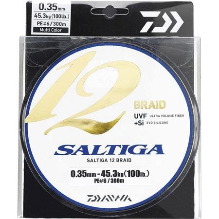 TRENZADO DAIWA SALTIGA 12 BRAID MULTICOLOR -600M