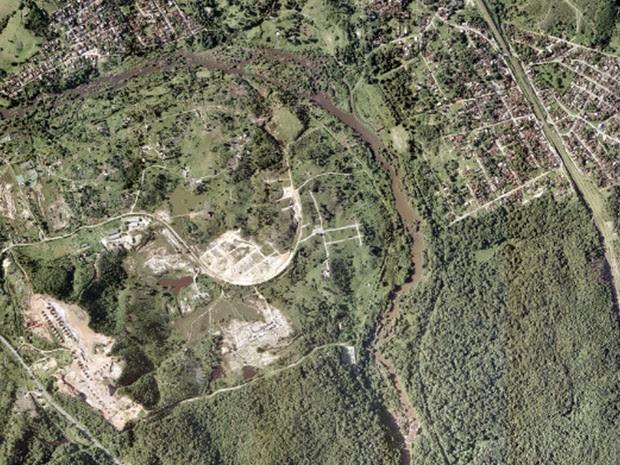 Arena Pernambuco, em São Lourenço da Mata, em foto feita em 2009 (Foto: Google Earth)