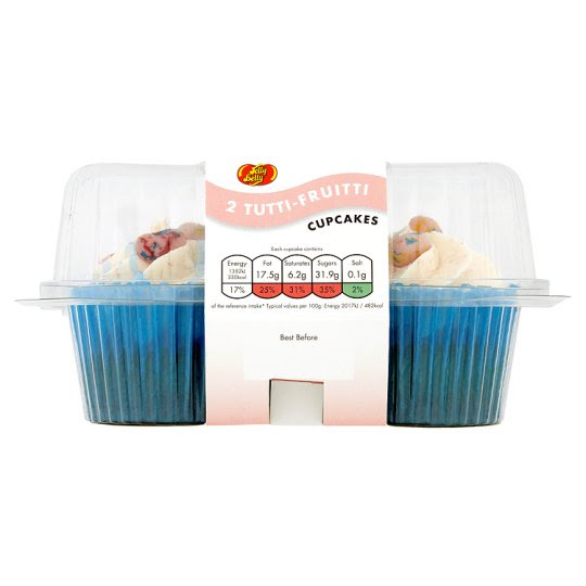 Jelly Belly Tutti Fruiti Vanilla Cupcake 2 Pack