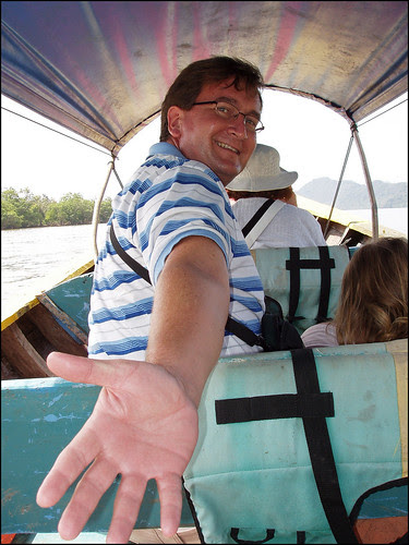 Me on longtail boat in Phang Nga