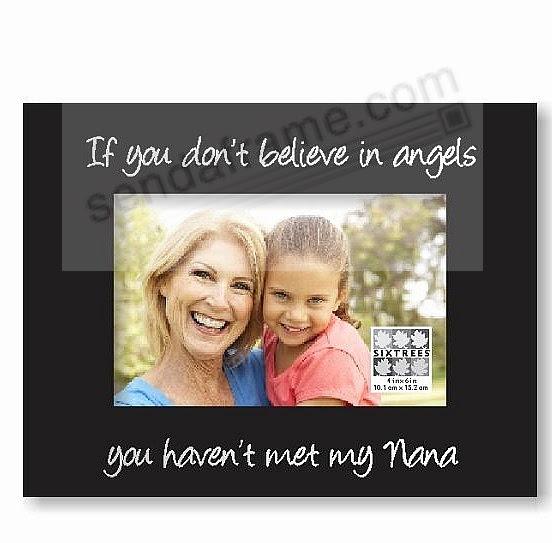 Angels Nana Ebony Black Keepsake Frame Picture Frames Photo