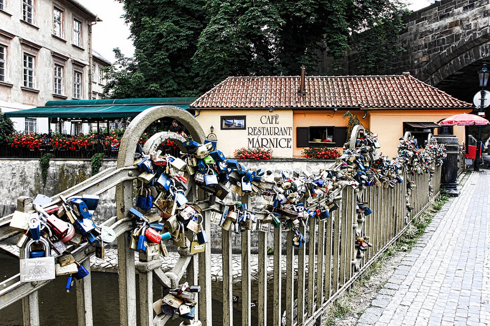 Love Padlocks On Karluv Bridge Prague