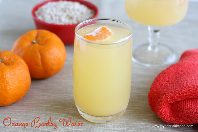 Orange barley water