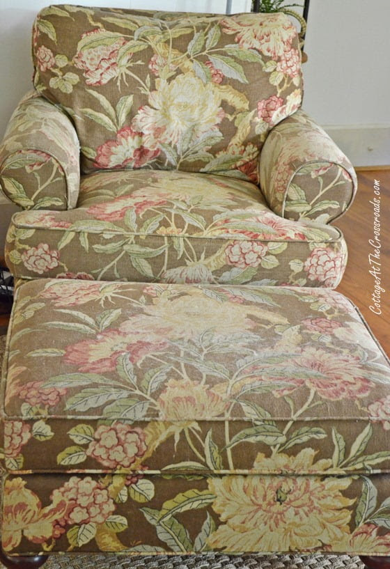 From My Front Porch To Yours-How I Found My Style Sundays-chair and ottoman | Cottage at the Crossroads