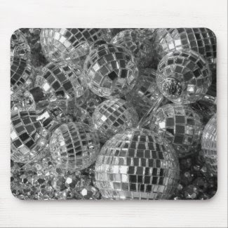 Disco Ball Ornaments Mouse Pad