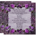 Purple Passion Floral Wedding Invitation