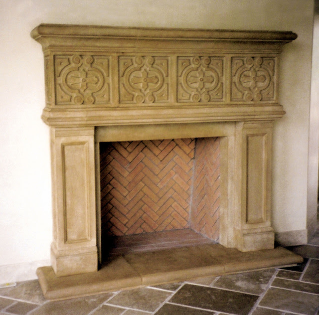 Manchester Cast Stone Fireplace Mantel - Traditional ...