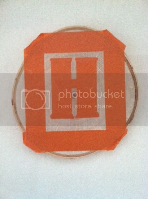 Shabby Nest: Taping off the  monogram photo photo3-5.jpg