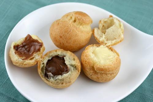 Cream Puffs with Vanilla & Chocolate Pastry Cream
