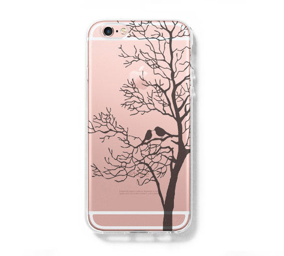 Love Birds Tree Iphone 6 Case Clear Hard Iphone 6s Plus Case Galaxy