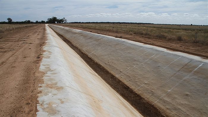 Lined irrigation channel in the Trangie Nevertire Irrigation Scheme