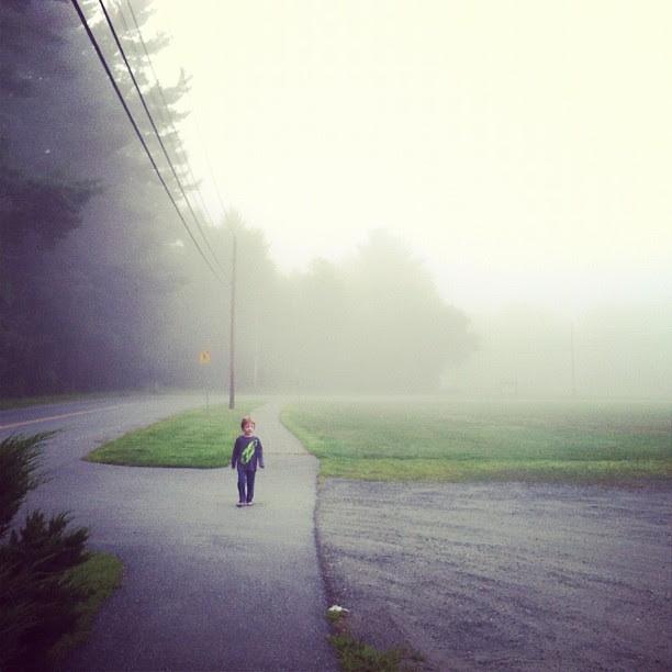 Foggy morning (no tilt-shift on this one, just fog-blur)