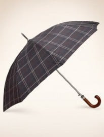 Check Print Twin Canopy Umbrella