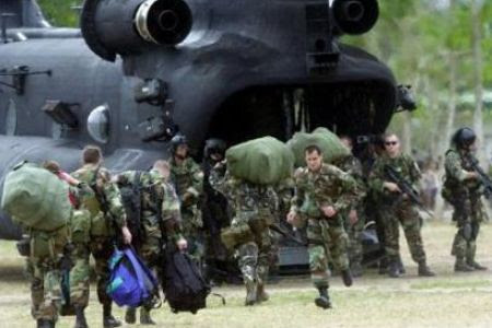 United States military forces landed in the Philippines to conduct exercises. Protests erupted inside the country accusing the imperialist state of using their territory to train for war against Libya and other geo-political regions around the world. by Pan-African News Wire File Photos