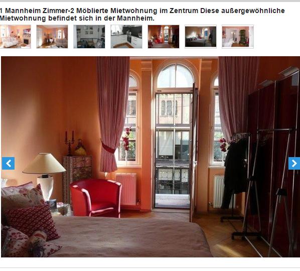 1 mannheim zimmer 2 m blierte mietwohnung im zentrum 68239. Black Bedroom Furniture Sets. Home Design Ideas