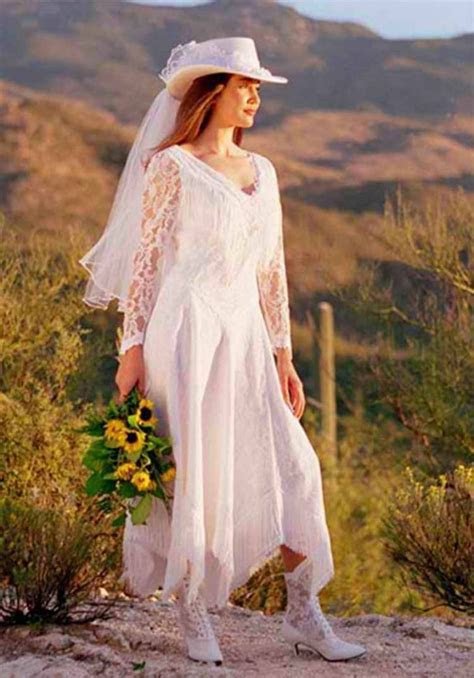 Western Wedding Dresses, Cowboy Boots With Wedding Dress