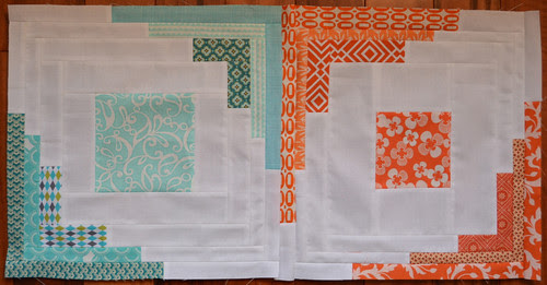 Converging Corners Blocks for Tracey, Aqua and Orange bee