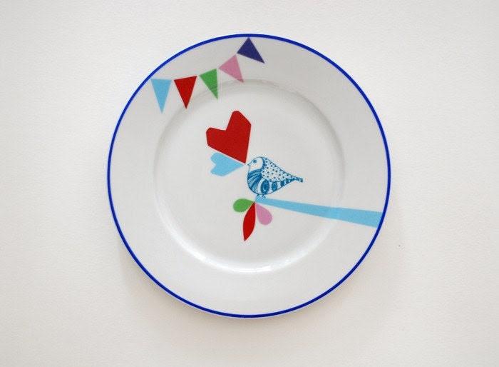 Lovebird plate