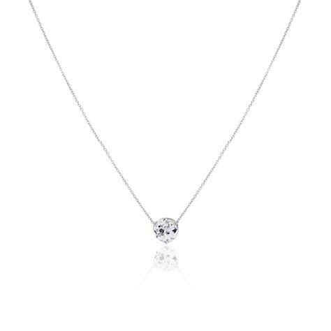 14k White Gold 0.58ct Diamond Floating Diamond Necklace