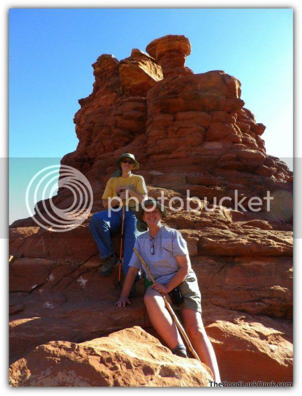 Annie and Roxi, Boynton Canyon, Sedona, http://thegoodluckduck.com