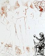 Salvador Dalí - Judgement Paris: From the Mythology Suite (Works on Paper (Drawings, Watercolors etc.))