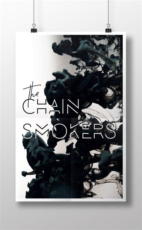 The Chainsmokers Poster design   Kirsten Kizerian   West
