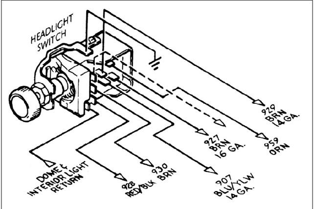 Wiring Diagram Gm Headlight Switch
