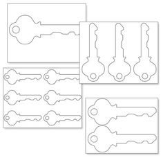 Key pattern. Use the printable outline for crafts, creating ...