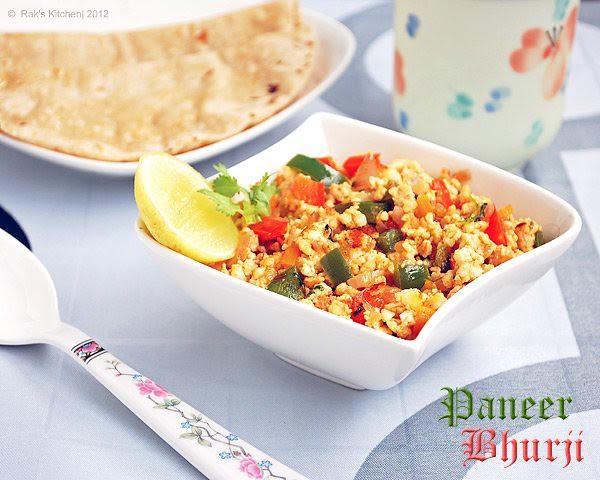 Paneer bhurji recipe | Easy paneer recpies - Raks Kitchen