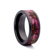 Pink Camo Wedding Rings   Black Ceramic Band by #1 CAMO