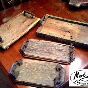 Barnwood Trays custom made by Mark Alan Artisan Woods