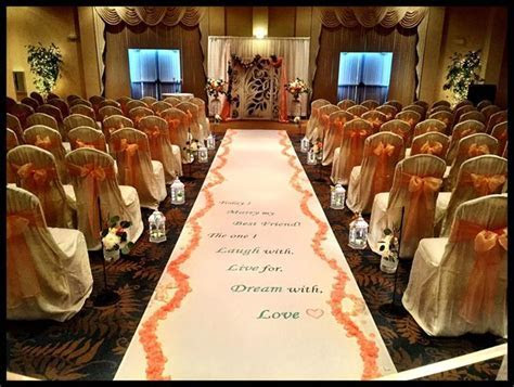 Beautiful ceremony set up at the Executive Banquet and