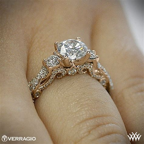 verragio braided  stone engagement ring