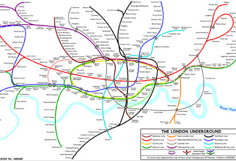 Curvy Tube Map by Maxwell Roberts
