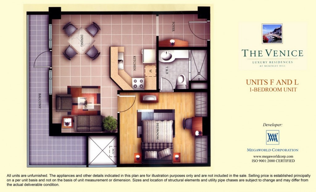 1 Bedroom Unit at Venice Luxury Residences – Mckinley Hill ...
