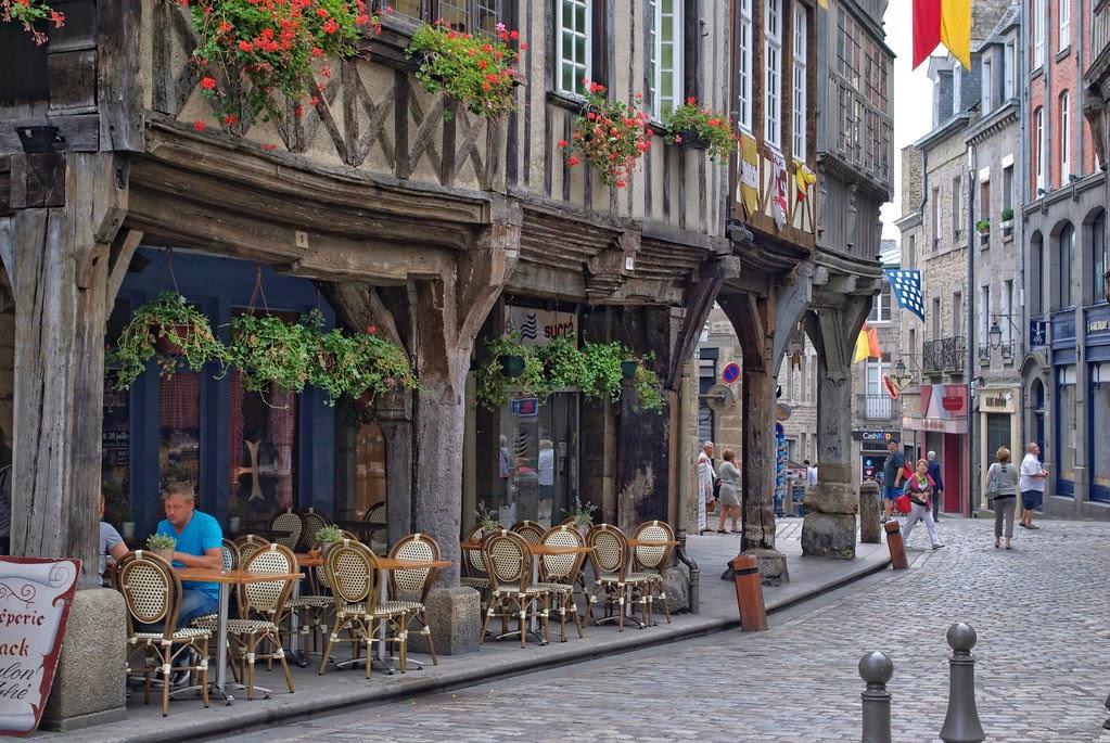 Medieval buildings in Dinan, France