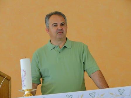 Ivan in his chapel in Medjugorje