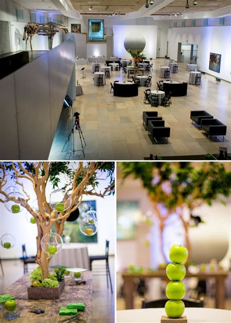 phoenix art museum green apple centerpieces   The