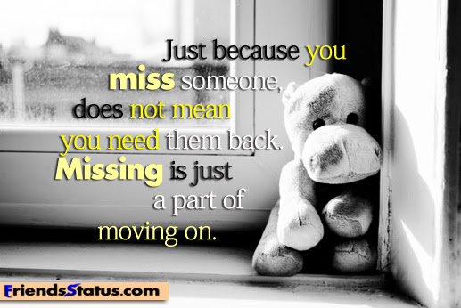 Just Because You Miss Someone Does Not Mean You Need Them Back