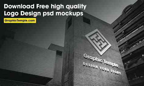 high quality logo design psd mockups