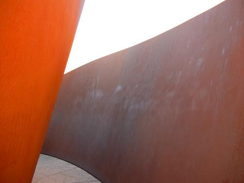 Steel Sculpture by Richard Serra, Cantor Arts Center, Stanford University _ 8350