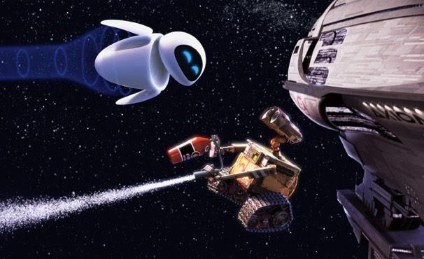 Para ficar perto da sua amada, Wall-E encara até uma viagem pelo espaço (Foto: Divulgação / Disney)