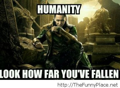 Humanity Is Falling Down Thefunnyplace
