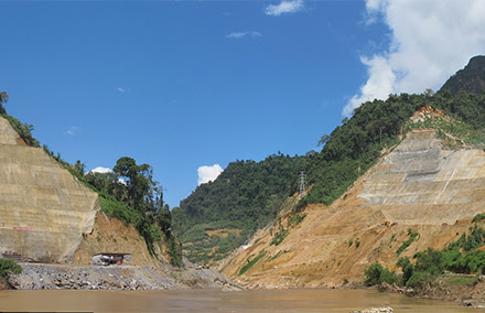 The site of the new dam. Photo: Olivier Evrard