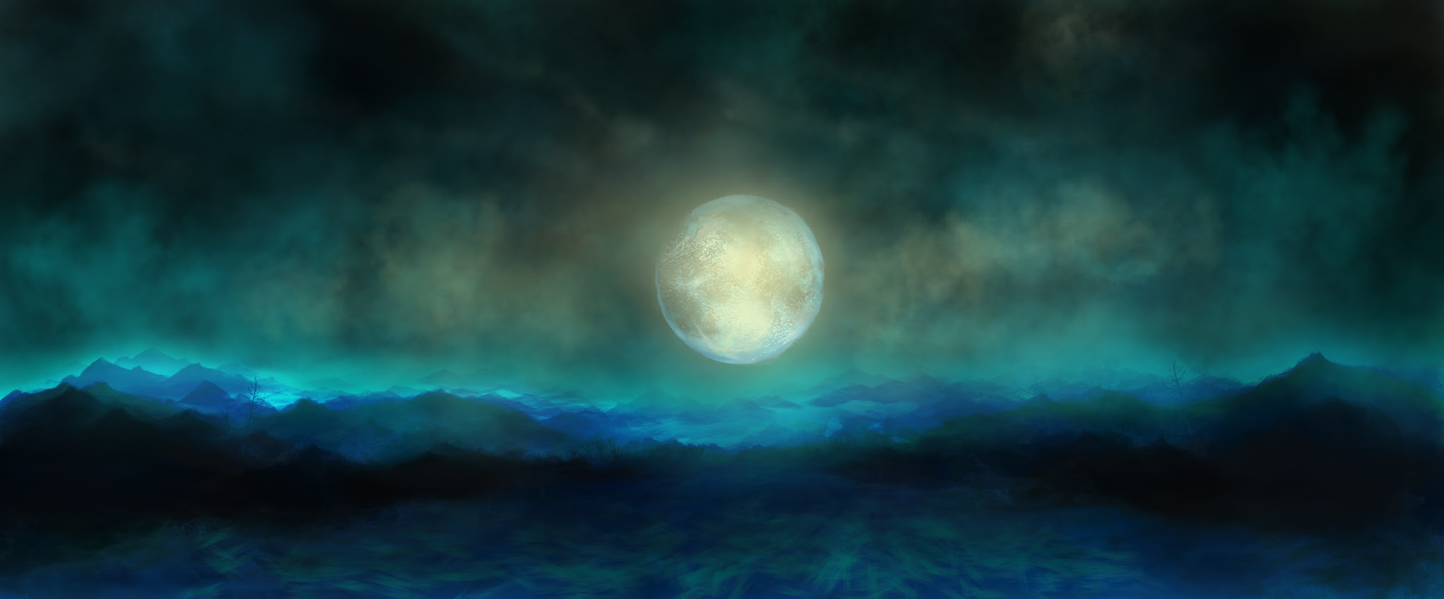 Image result for green moon paintings