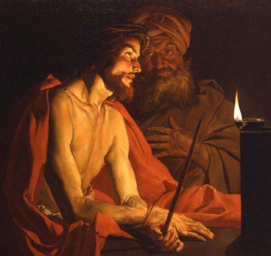 Mathias Stomer, Cristo davanti a Pilato